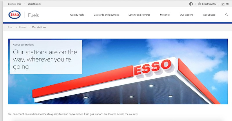 Esso Gas Stations and Convenience Stores | Esso
