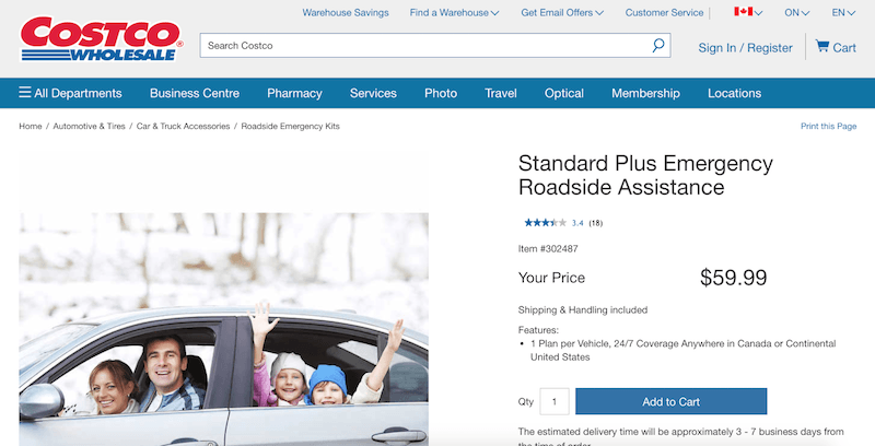 Standard Plus Emergency Roadside Assistance