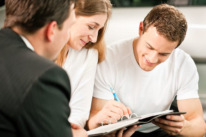signing and buying insurance
