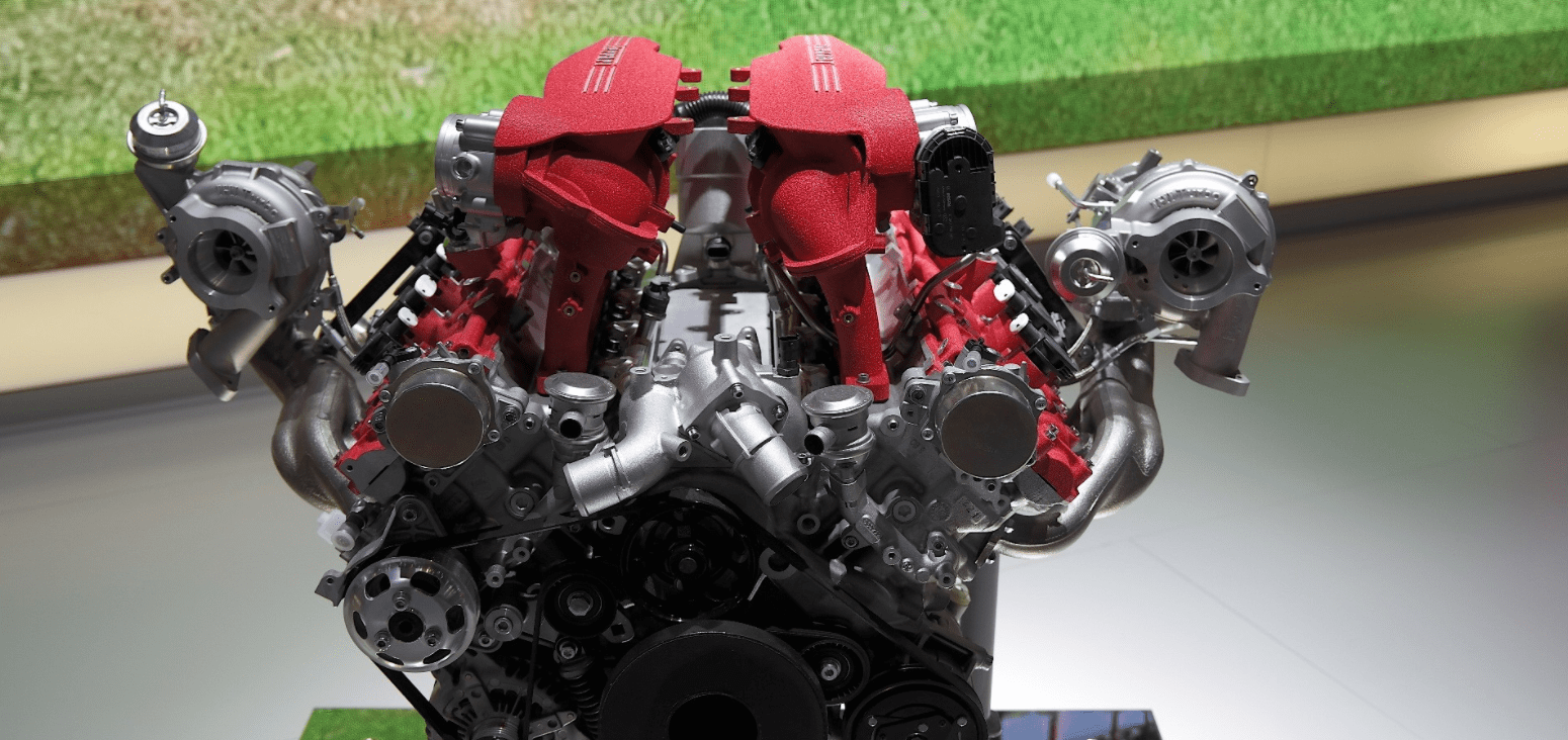 Ferrari Twin-Turbocharged V8 3.9-liter