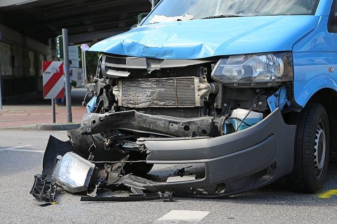 van damaged