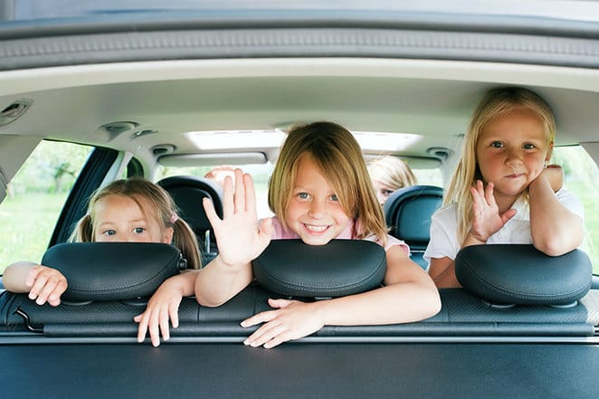 Children on Car