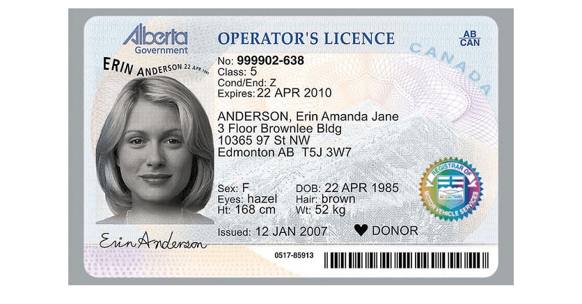 drivers license test cost alberta