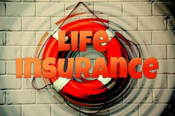 Life Insurance sing on wall