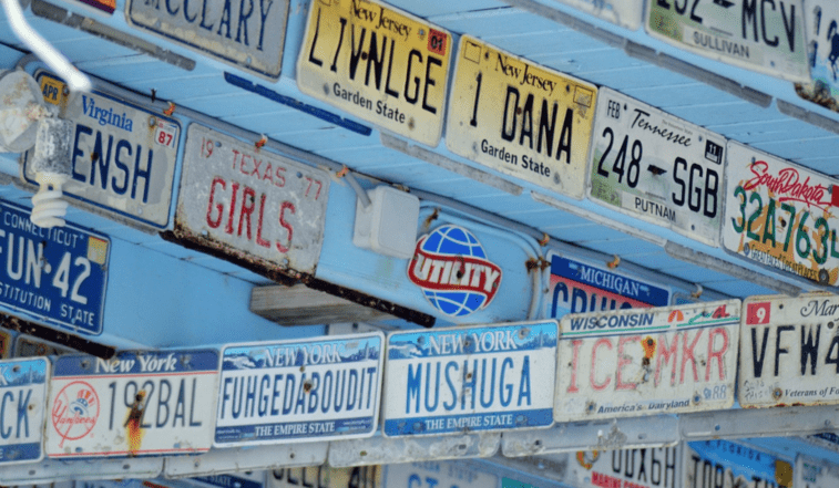 Registration Plates on the Wall