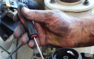 Mechanic's hand
