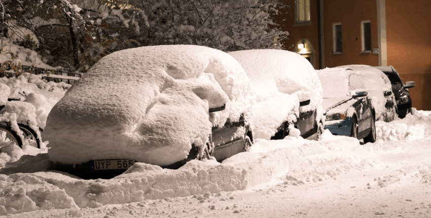 Street Parked Cars in Winter