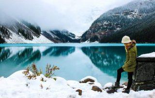 Woman in Canadian Lake